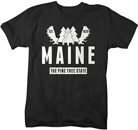 Shirts By Sarah Men's Maine State Nickname Shirt Pine Tree State Shirts Est. 1820-Shirts By Sarah