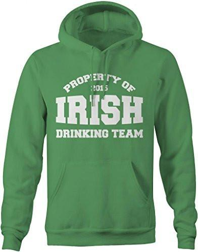 Shirts By Sarah Men's Saint Patrick's Day Hoodie Property Of Irish Drinking Team-Shirts By Sarah