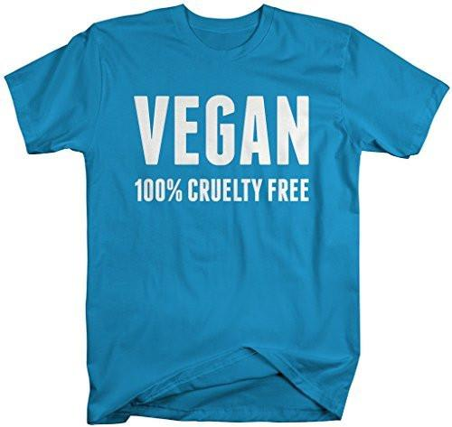 Shirts By Sarah Men's Vegan Shirt 100% Cruelty Free T-Shirt For Vegans-Shirts By Sarah