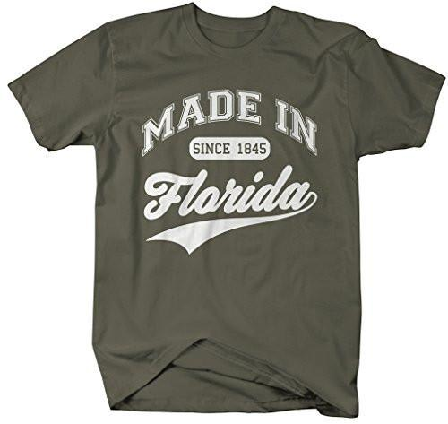 Shirts By Sarah Men's Made In Florida T-Shirt Since 1845 State Pride Shirts-Shirts By Sarah