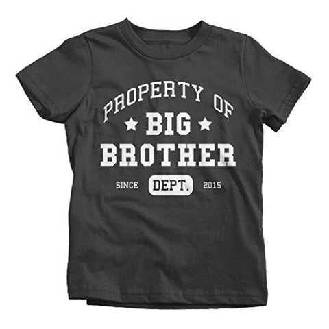 Shirts By Sarah Boy's Promoted Big Brother Dept T-Shirt Athletic Shirts 2015-Shirts By Sarah