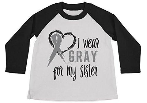 Shirts By Sarah Boy's Wear Gray For Sister Shirt 3/4 Sleeve Gray Awareness Shirts-Shirts By Sarah