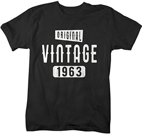 Shirts By Sarah Men's Original Vintage Birthday Year Shirts Made In 1963 T-Shirt-Shirts By Sarah