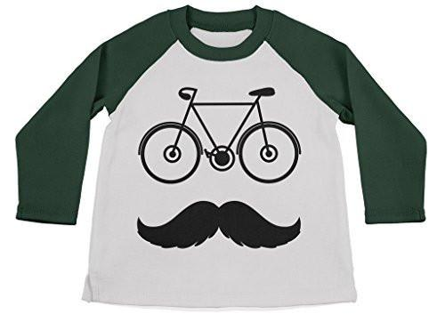 Shirts By Sarah Boy's Funny Hipster Bicycle Shirt 3/4 Sleeve Raglan Shirts-Shirts By Sarah
