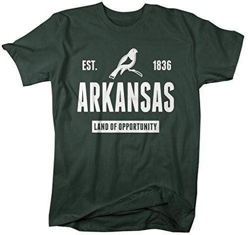 Shirts By Sarah Men's Arkansas State Nickname Shirt Land Of Opportunity T-Shirts Est. 1836-Shirts By Sarah