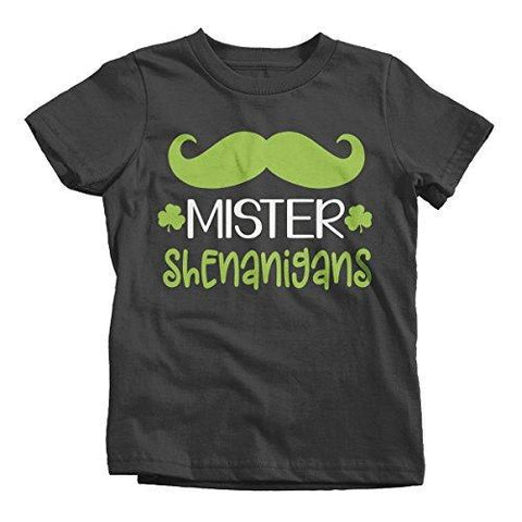 Shirts By Sarah Boy's Mister Shenanigans Funny ST. Patrick's Day T-Shirt-Shirts By Sarah