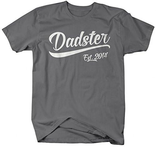 Shirts By Sarah Men's Funny Dadster Est. 2014 T-Shirt Father's Day Dad's Shirts-Shirts By Sarah