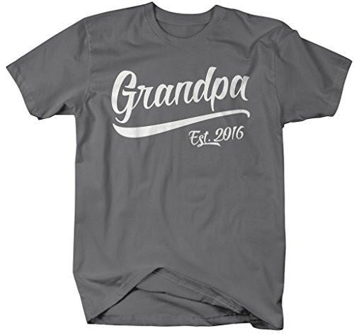 Shirts By Sarah Men's Grandpa Est. 2016 T-Shirt Fathers Day Shirts-Shirts By Sarah