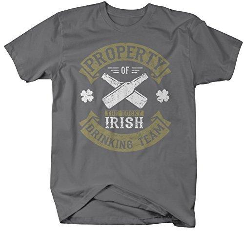 Shirts By Sarah Men's Funny ST. Patrick's Day Irish Drinking Team T-Shirt Property Of-Shirts By Sarah