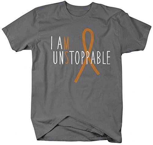 Shirts By Sarah Men's Unisex Multiple Sclerosis MS Unstoppable T-Shirt-Shirts By Sarah