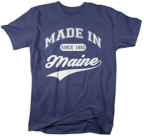 Shirts By Sarah Men's Made In Maine T-Shirt Since 1820 State Pride Shirts-Shirts By Sarah