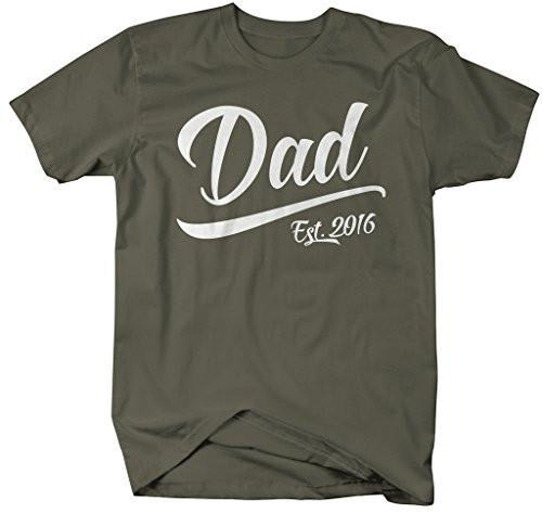 Shirts By Sarah Men's Dad Est. 2016 T-Shirt Fathers Day Shirts-Shirts By Sarah