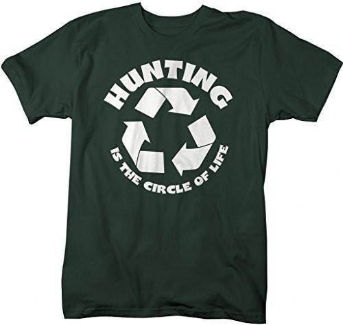 Shirts By Sarah Men's Funny Hunting Shirt Circle Of Life Hunter T-Shirts-Shirts By Sarah