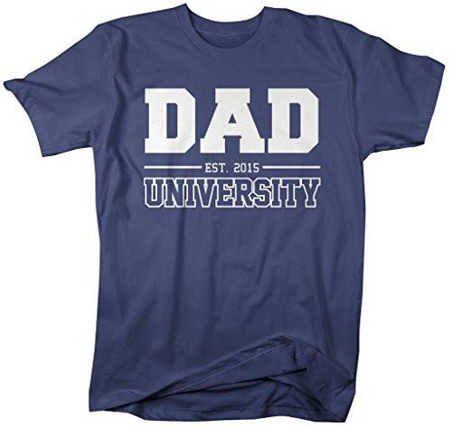 Shirts By Sarah Men's Dad University Est. 2015 T-Shirt Father's Day Shirts-Shirts By Sarah