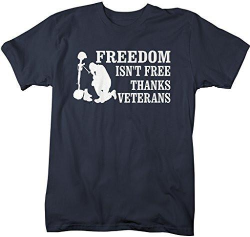 Shirts By Sarah Men's Thanks Veterans T-Shirt Freedom Isn't Free Shirts-Shirts By Sarah