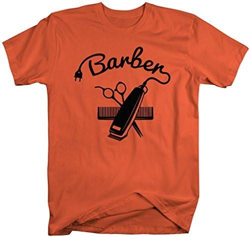 Shirts By Sarah Men's Barber Shirts Hair Clippers T-Shirt For Barbers-Shirts By Sarah
