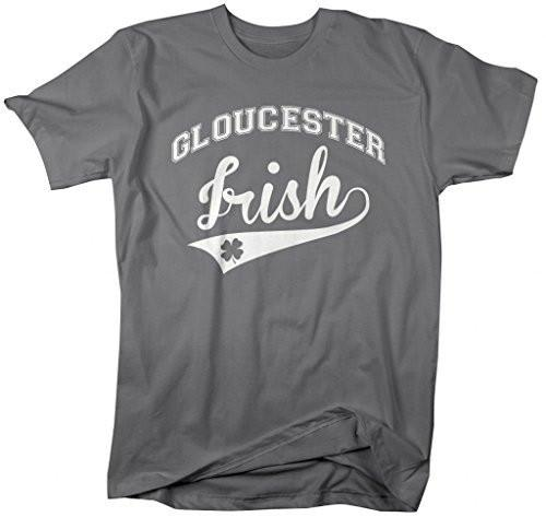 Shirts By Sarah Men's St. Patrick's Day City T-Shirt Gloucester Irish MA Shirts-Shirts By Sarah