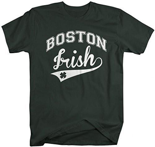 Shirts By Sarah Men's St. Patrick's Day City T-Shirt Boston Irish MA Shirts-Shirts By Sarah