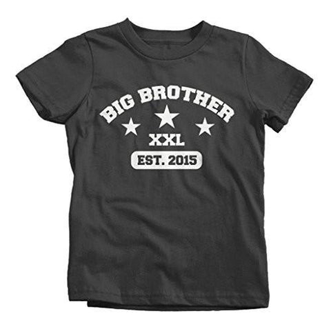 Shirts By Sarah Boy's Big Brother Est. 2015 Shirts XXL T-Shirt-Shirts By Sarah