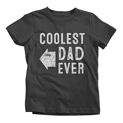 Shirts By Sarah Youth Matching Coolest Dad Ever T-Shirt Boy's Girl's Right-Shirts By Sarah