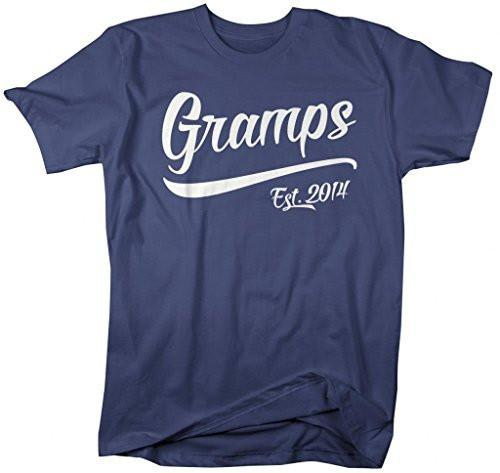 Shirts By Sarah Men's Funny Gramps Est. 2014 T-Shirt Father's Day Grandpa Shirts-Shirts By Sarah