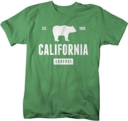Shirts By Sarah Men's California State Pride Bear Eureka T-Shirt-Shirts By Sarah