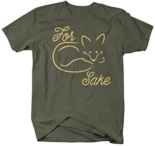 Shirts By Sarah Men's Funny Hipster Shirts For Fox Sake T-Shirt-Shirts By Sarah