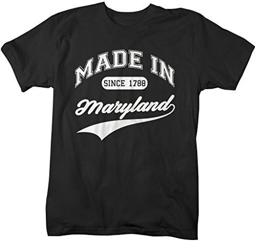 Shirts By Sarah Men's Made In Maryland T-Shirt Since 1788 State Pride Shirts-Shirts By Sarah