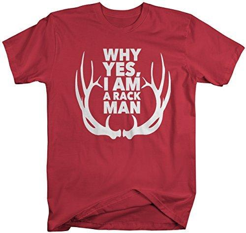 Shirts By Sarah Men's Funny Rack Man T-Shirt Hunting Tee Hunter-Shirts By Sarah