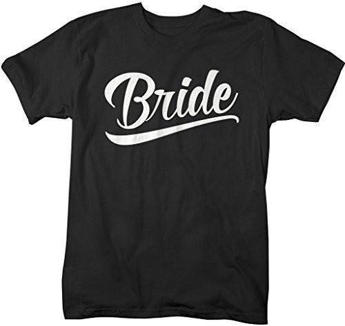 Shirts By Sarah Women's Unisex Bride T-Shirt Wedding Shirt-Shirts By Sarah