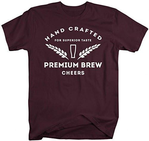 Shirts By Sarah Men's Hand Crafted Brewing T-Shirt Home Brewery Tees-Shirts By Sarah