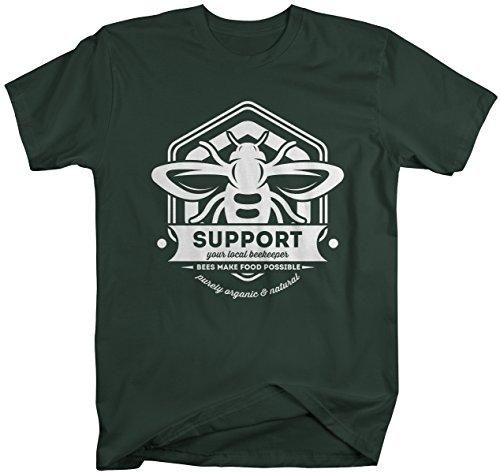 Men's Beekeeper T-Shirt Support Local Bee Keeper Honey Shirt-Shirts By Sarah