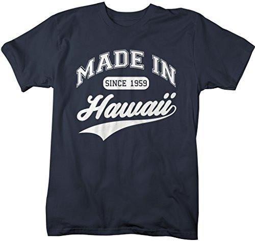 Shirts By Sarah Men's Made In Hawaii T-Shirt Since 1959 State Pride Shirts-Shirts By Sarah