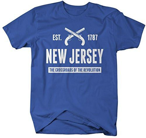 Shirts By Sarah Men's New Jersey State Nickname Shirt Crossroads Revolution T-Shirts Est. 1787-Shirts By Sarah