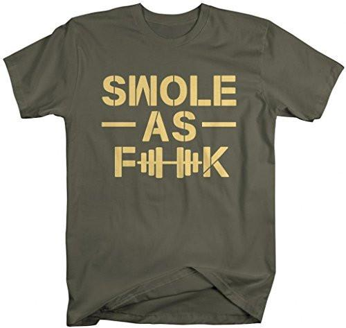 Shirts By Sarah Men's Funny Swole As F**K Workout T-Shirt Gym Apparel-Shirts By Sarah