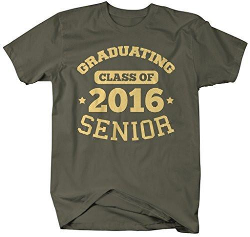 Shirts By Sarah Men's Graduating Class 2016 Senior Graduate T-Shirt-Shirts By Sarah