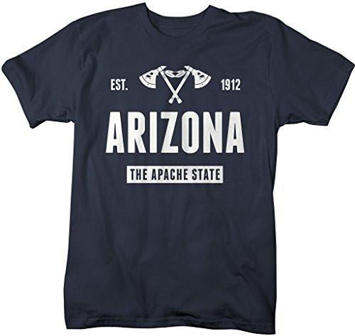 Shirts By Sarah Men's Arizona State Nickname Shirt Apache State T-Shirts Est. 1912-Shirts By Sarah