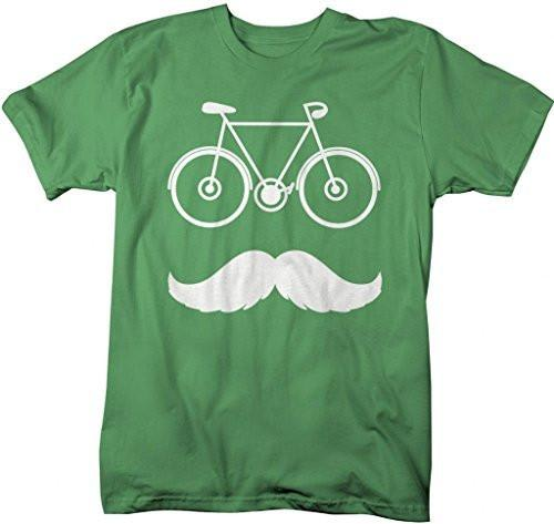 Shirts By Sarah Men's Hipster Bicycle Mustache T-Shirt-Shirts By Sarah