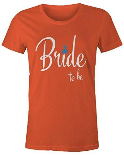 Shirts By Sarah Women's Bride To Be Cute T-Shirt Wedding Shirt-Shirts By Sarah