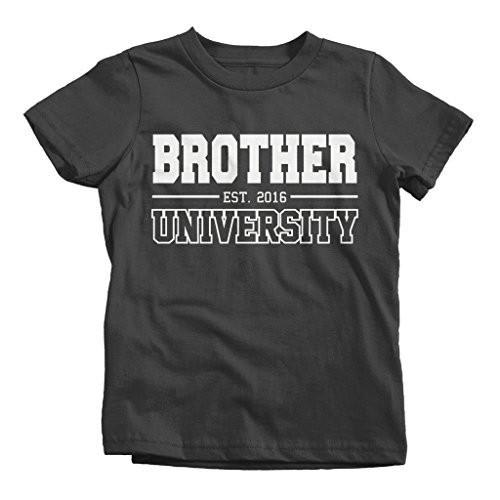 Shirts By Sarah Boy's Brother University 2016 T-Shirt Big Brother Shirts-Shirts By Sarah