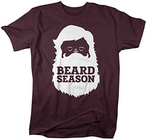 Shirts By Sarah Men's Hipster T-Shirt Beard Season Lumberjack Shirts-Shirts By Sarah