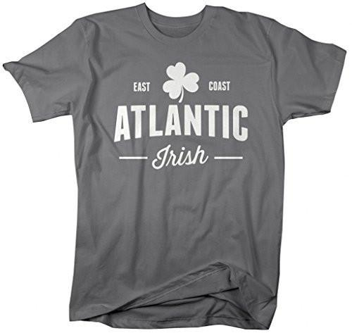 Shirts By Sarah Men's St. Patrick's Day East Coast Atlantic Irish T-Shirt-Shirts By Sarah