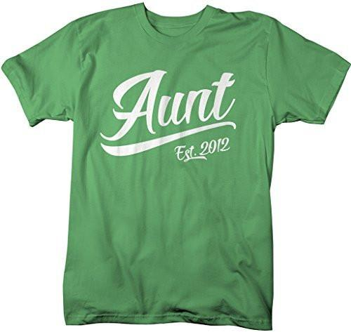Shirts By Sarah Women's Modern Aunt Established 2012 T-Shirt Unisex Tee-Shirts By Sarah