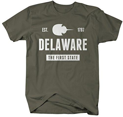Shirts By Sarah Men's Delaware State Nickname Shirt The First State T-Shirts Est. 1787-Shirts By Sarah
