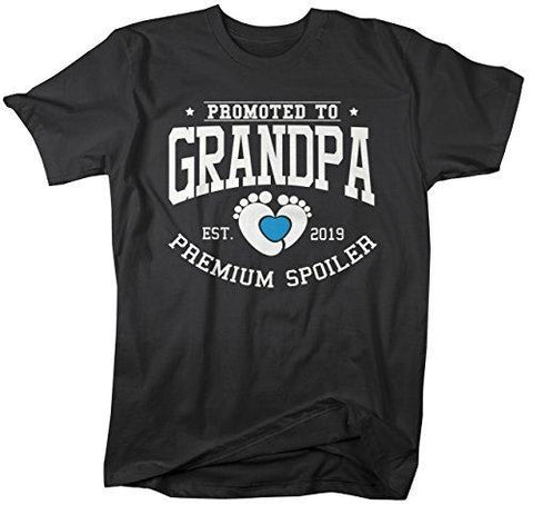 Shirts By Sarah Men's Promoted to Grandpa T-Shirt Premium Spoiler EST. 2019 Shirt-Shirts By Sarah