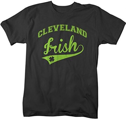 Shirts By Sarah Men's St. Patrick's Day City T-Shirt Cleveland Irish OH Shirts-Shirts By Sarah