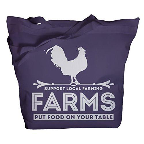 Shirts By Sarah Tote Bag Farming Totes Farms Put Food On Table Support Bags-Shirts By Sarah
