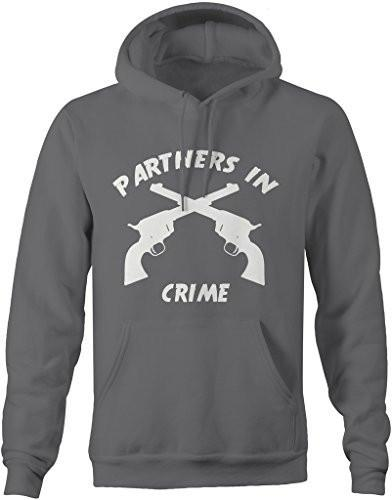Shirts By Sarah Unisex Best Friend Pullover Partners In Crime Guns Hoodie-Shirts By Sarah