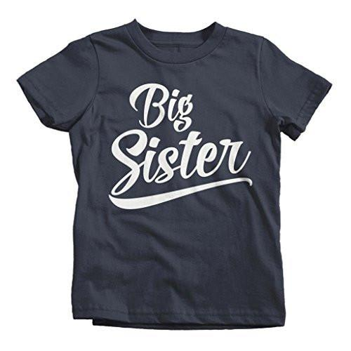 Shirts By Sarah Girl's Big Sister T-Shirt Sibling Matching Shirts-Shirts By Sarah