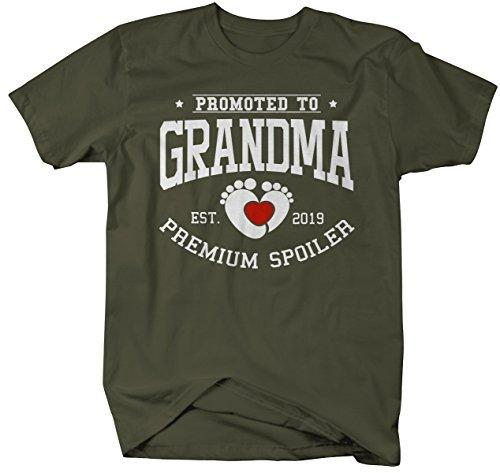 Shirts By Sarah Women's Unisex Promoted to Grandma T-Shirt Premium Spoiler EST. 2019 Shirt-Shirts By Sarah